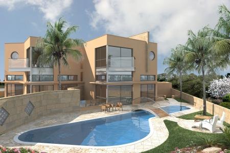 עיצוב של החצר הראשית והבריכה | עיצוב פנים