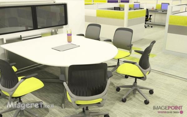 עיצוב חדר ישיבות להייטק