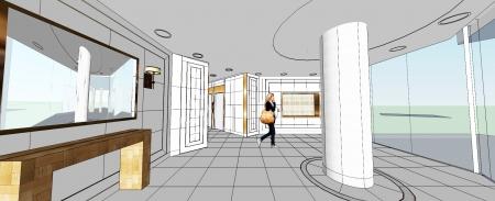 עיצוב לובי בניין מגורים