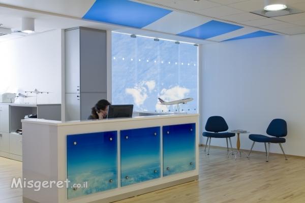 עיצוב משרדים לובי כניסה