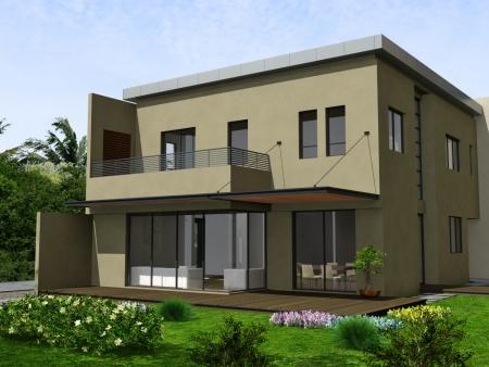 עיצוב של בית פרטי חזית אחורית | עיצוב פנים