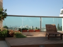 עיצוב של פינה במרפסת,דירת גג | עיצוב פנים