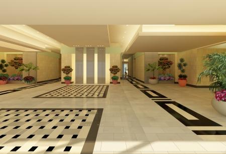 עיצוב של לובי כניסה בנין מגורים | עיצוב פנים