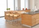 עיצוב של מטבח עץ אלון טבעי | עיצוב פנים