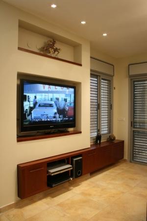 עיצוב של נישת טלוויזיה בסלון | עיצוב פנים