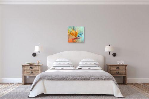 תמונה לחדר שינה - בתיה שגיא - ציפור גן עדן - מק''ט: 109451