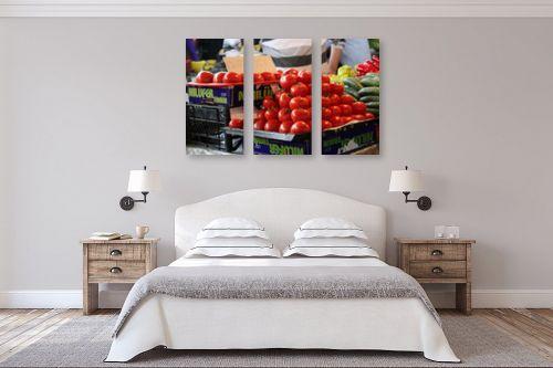 תמונה לחדר שינה - דן ששתיאל - עגבניות בשוק - מק''ט: 111179