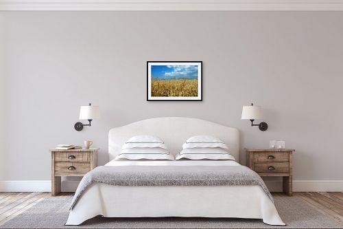 תמונה לחדר שינה - שוש אבן - שדה חיטה - מק''ט: 120710