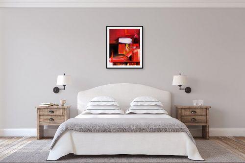 תמונה לחדר שינה - Red סטודיו - abstruct - מק''ט: 129759