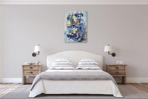 תמונה לחדר שינה - מרים קופפרשטיך - נוף כחול - מק''ט: 138779
