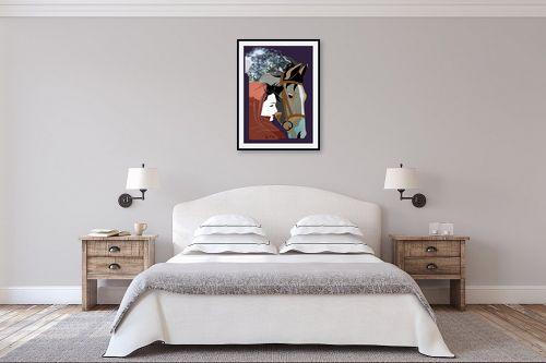 תמונה לחדר שינה - דוד סלע - הומאז' - מק''ט: 141599