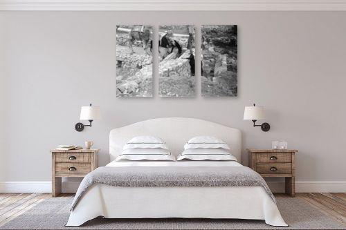 תמונה לחדר שינה - דוד לסלו סקלי - שוקת במעיין 1947 - עלאר - מק''ט: 142549