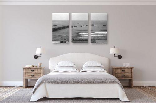 תמונה לחדר שינה - דוד לסלו סקלי - תל אביב 1939 מעפילים באים - מק''ט: 143255