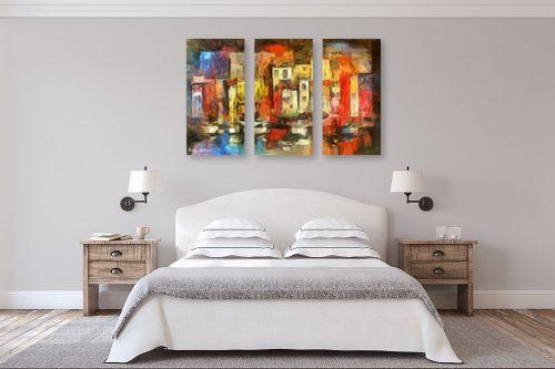תמונה לחדר שינה - בן רוטמן - עיר צבעונית - מק''ט: 144990