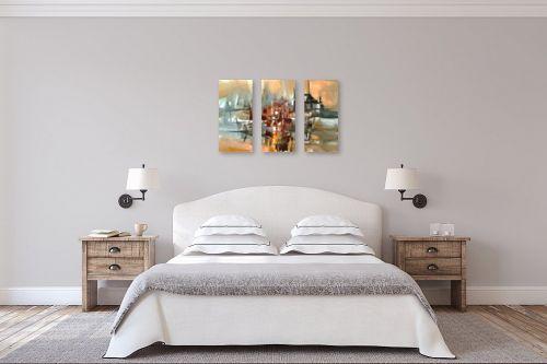 תמונה לחדר שינה - בן רוטמן - צללית של עיר בנהר - מק''ט: 149041