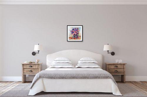 תמונה לחדר שינה - מרים קופפרשטיך - זר סגול - מק''ט: 149680