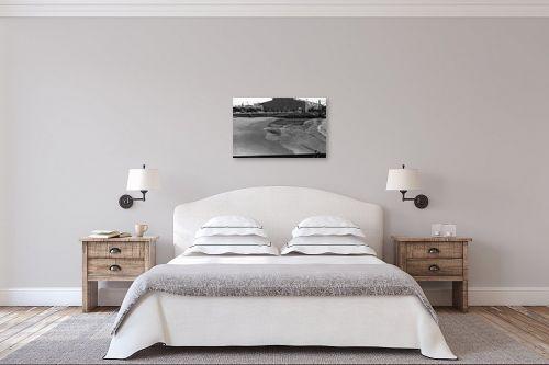 תמונה לחדר שינה - דוד לסלו סקלי - תל אביב 1937 משאיות בנמל - מק''ט: 153247