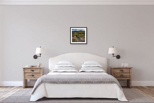 תמונה לחדר שינה - רוחלה פליישר - נוף כפרי - מק''ט: 157429