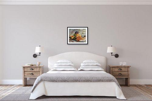 תמונה לחדר שינה - שולי חיימזון - משחילה פרחים - מק''ט: 158550