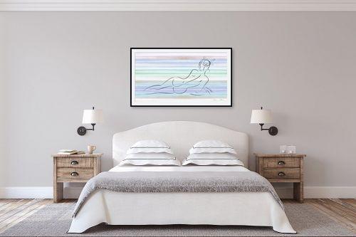 תמונה לחדר שינה - נעמי עיצובים - פרח בשערה - מק''ט: 159820