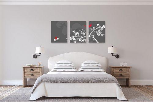 תמונה לחדר שינה - נעמי עיצובים - ציפור אודם - מק''ט: 159899