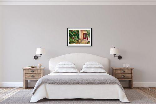 תמונה לחדר שינה - שולי חיימזון - חצר ירושלמית - מק''ט: 160324