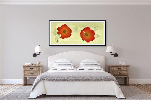 תמונה לחדר שינה - נעמי עיצובים - כלניות - מק''ט: 160392