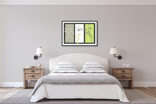 תמונה לחדר שינה - נעמי עיצובים - במבוק על אפור - מק''ט: 160920