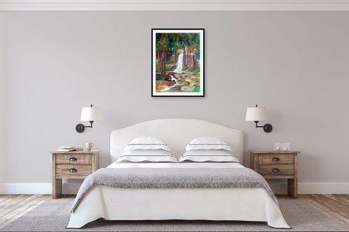 תמונה לחדר שינה - רינה יניב - מפל המים - מק''ט: 163883