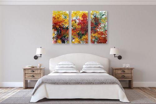 תמונה לחדר שינה - חגי עמנואל - פריחה באדום צהוב - מק''ט: 163924