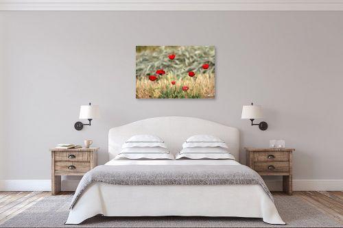 תמונה לחדר שינה - מיכל פרטיג - פרגים מצוירים - מק''ט: 174025