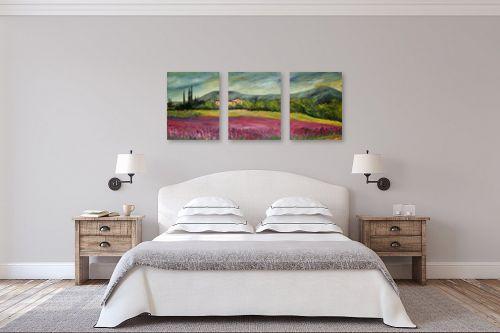 תמונה לחדר שינה - רוחלה פליישר - שדה פרחים בוורוד - מק''ט: 174263
