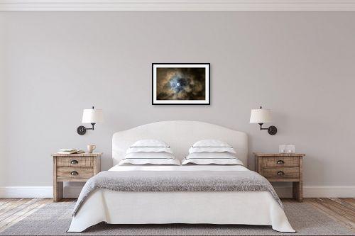 תמונה לחדר שינה - איה אפשטיין - ירח מלא בעננים - מק''ט: 174843