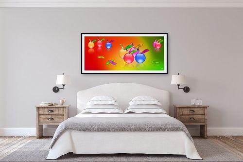 תמונה לחדר שינה - ויקטוריה רייגירה - תפוחים ציבעונים - מק''ט: 180682