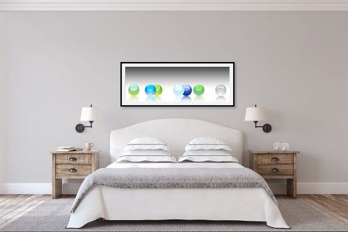 תמונה לחדר שינה - נעמי עיצובים - כדורי שקיפות - מק''ט: 188931
