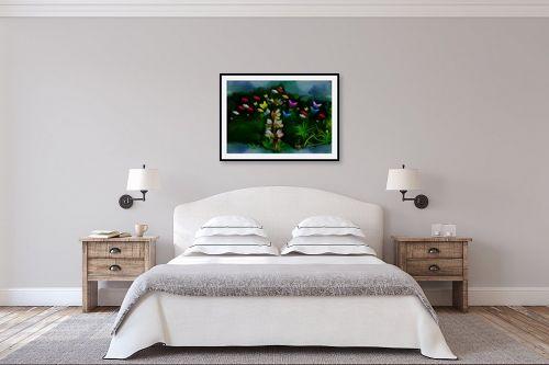 תמונה לחדר שינה - ענת אומנסקי - פרח פרפרים - מק''ט: 190512