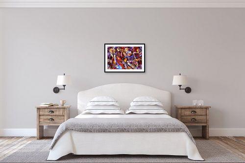 תמונה לחדר שינה - בן רוטמן - מוסיקה  עם כל הצבע - מק''ט: 193533