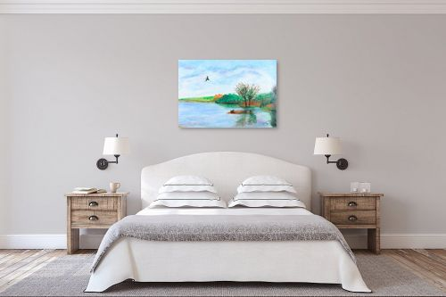 תמונה לחדר שינה - חנה כרמי - אגם החולה - מק''ט: 194601