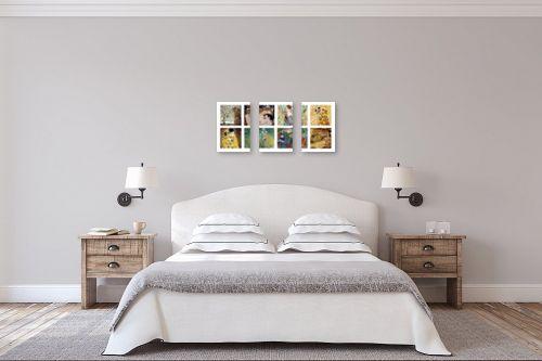 תמונה לחדר שינה - גוסטב קלימט - גוסטב קלימט collage - מק''ט: 201313