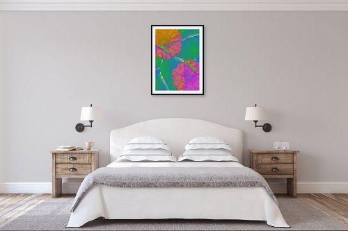 תמונה לחדר שינה - רוזה לשצ'ינסקי - עלה  ופרח - מק''ט: 204265