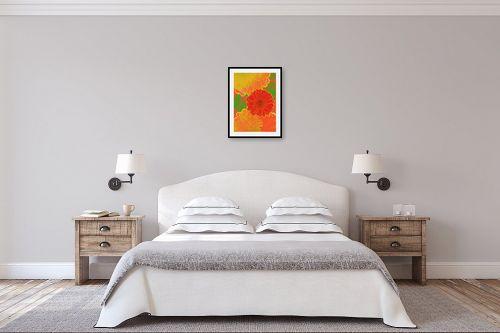 תמונה לחדר שינה - רוזה לשצ'ינסקי - פרח אדום - מק''ט: 204266