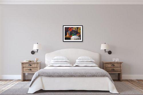 תמונה לחדר שינה - חנה כרמי - תפוחים אדומים - מק''ט: 208211
