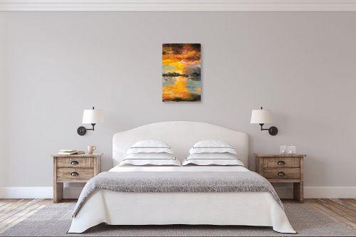 תמונה לחדר שינה - שולי חיימזון - שקיעה - מק''ט: 211198