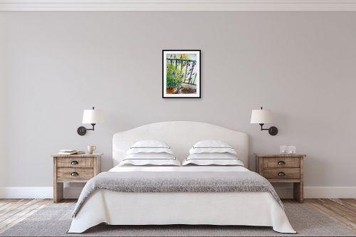 תמונה לחדר שינה - חיה וייט - לבנדר על הגג - מק''ט: 213139