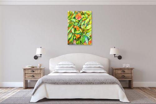 תמונה לחדר שינה - חיה וייט - פרחי רימון - מק''ט: 213146