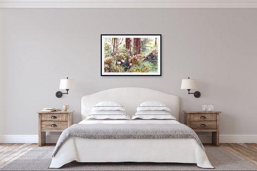 תמונה לחדר שינה - חיה וייט - רקפות - מק''ט: 213147