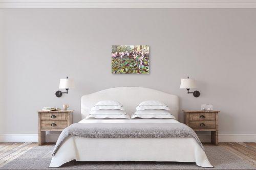 תמונה לחדר שינה - חיה וייט - רקפות פראיות - מק''ט: 213167