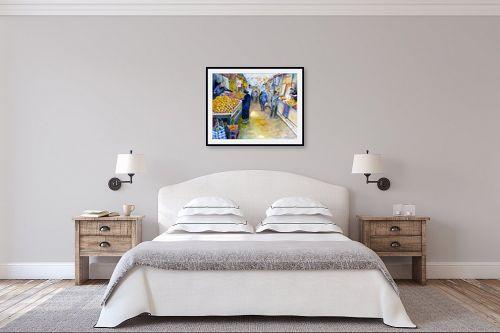 תמונה לחדר שינה - חיה וייט - קניות בשוק - מק''ט: 213214