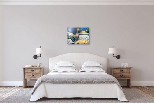 תמונה לחדר שינה - MMB Art Studio - A Man and a Dog resting  - מק''ט: 223196