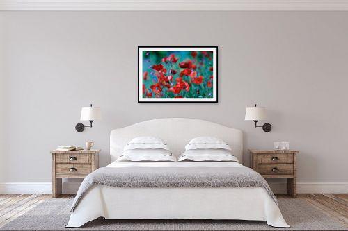 תמונה לחדר שינה - אורי ברוך - אדום לוהט - מק''ט: 225998